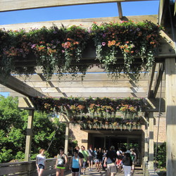 The entrance to the Chicago Botanic Gardens